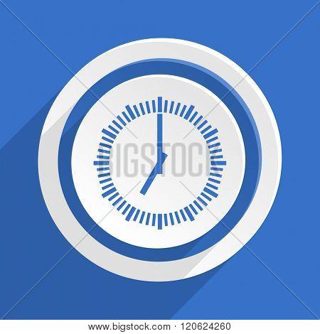 time blue flat design modern icon