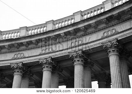 Detail The Colonnade Of The Kazan Cathedral.