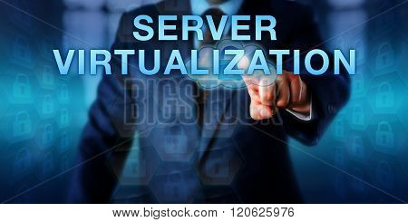 Business User Touching Server Virtualization