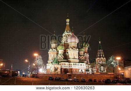 Night St. Basil's Cathedral