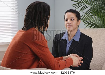 Businesspeople talking in office