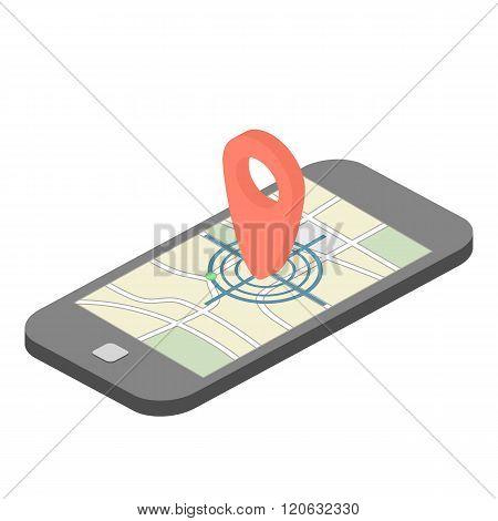 Isometric mobile GPS navigator