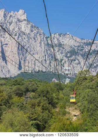 The cable car in Crimea Ai-Petri