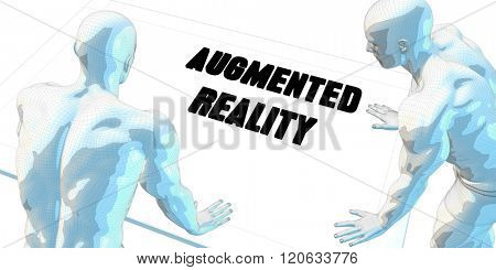 Augmented Reality Discussion and Business Meeting Concept Art