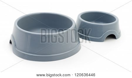 Two Cat's Plastic Bowls.