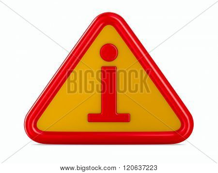 symbol information on white background. Isolated 3D image