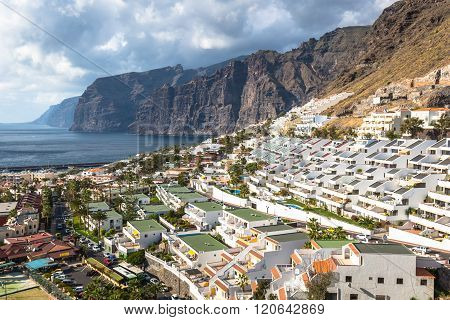 City Of Los Gigantes In Tenerife, Canary Islands, Spain