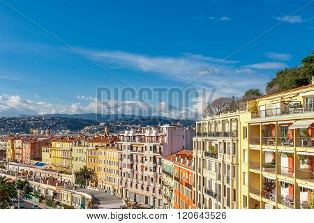 View Of Streets And Landmarks. Villefranche-sur-mer, Nice.