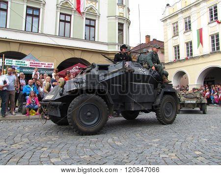 German Light Armoured Reconnaissance Vehicle Sdkfz 222 From Second World War On Parade