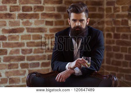 Stylish Bearded Businessman