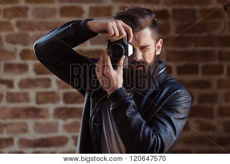 Stylish Young Bearded Man