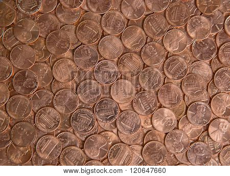 Huge pile of the US coins