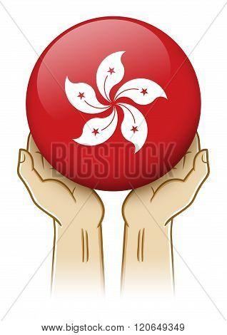 Pray For Hong Kong Illustration