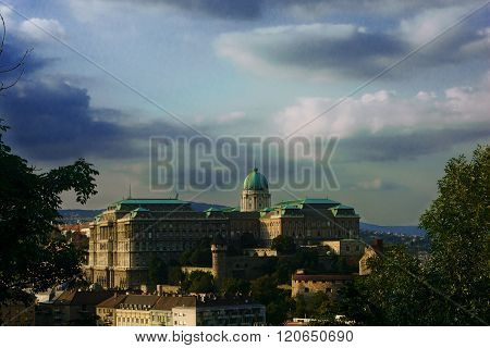 King's palace in Budapest. Buda Castle, St. Matthias and Fishermen's Bastion