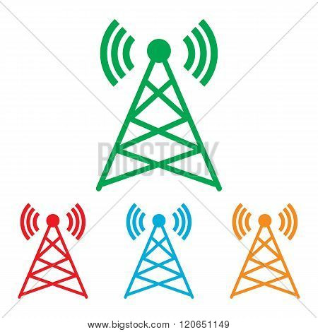 Antenna sign. Colorfull set