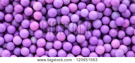 Pink And Purple Dragee Balls Background, Letterbox Format