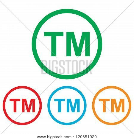 Trade mark sign. Colorfull set