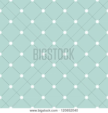 White and black veil seamless pattern on turquoise or mint background