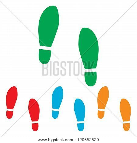 Imprint soles shoes sign