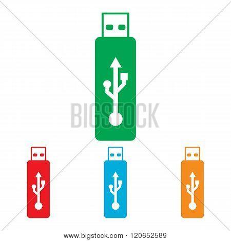 Vector usb flash drive sign