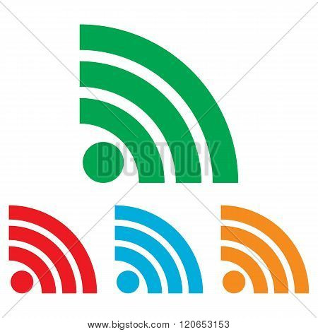 RSS sign. Colorfull set