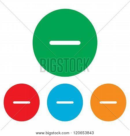Negative symbol. Minus sign