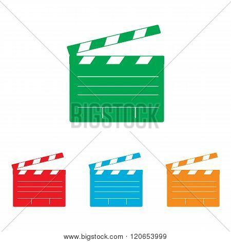 Film clap board cinema sign