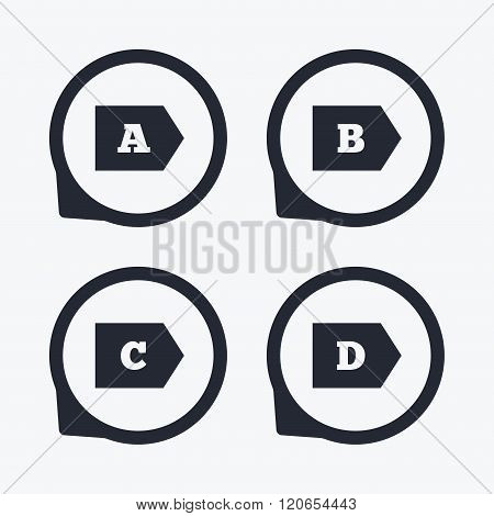 Energy efficiency class icons.