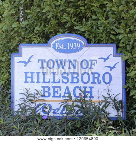 Town Of Hillsboro Beach Sign