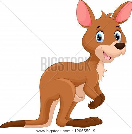 Cute kangaroo cartoon