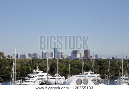 Fort Lauderdale Downtown And Boat Marina