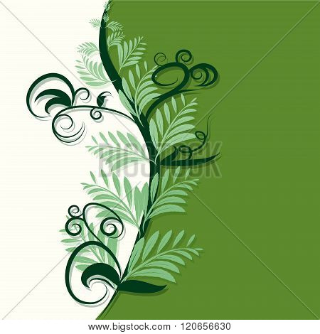 Abstract Green And Ivory Background