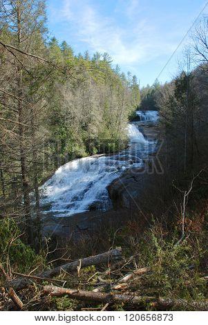 Triple Falls in Winter