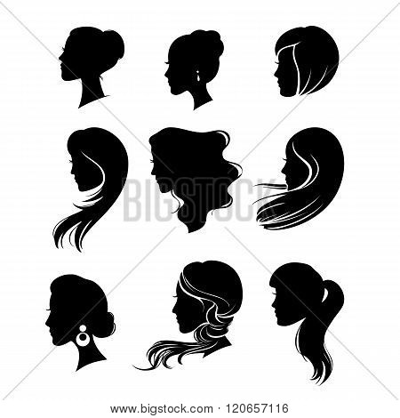 Woman Silhouette With Hair Styling
