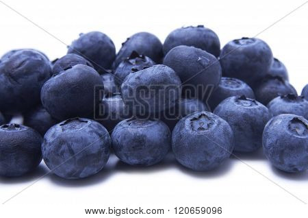 Blueberries with clipping path