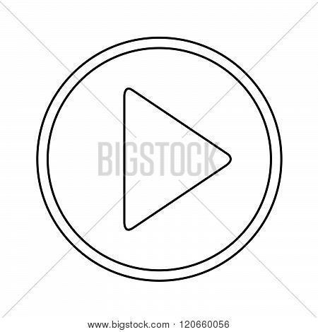 an images of Play button icon Illustration design