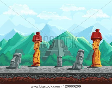 Stone Statue, Pyramid In The Emerald Mountains