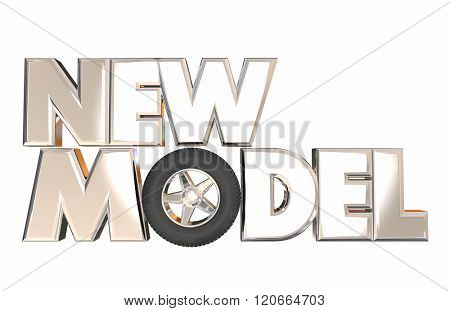 New Model Vehicle Car Design Unveil 3d Word Wheel