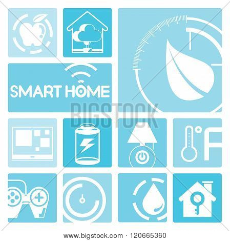 smart home and home automation technology icons