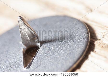 extra macro image of a metal pushpin