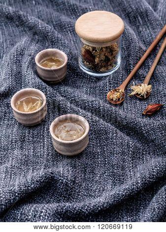 Chrysanthemum Tea, Flower Tea - Chinese Traditional Herbal Tea Made From Dried Chrysanthemum Flower
