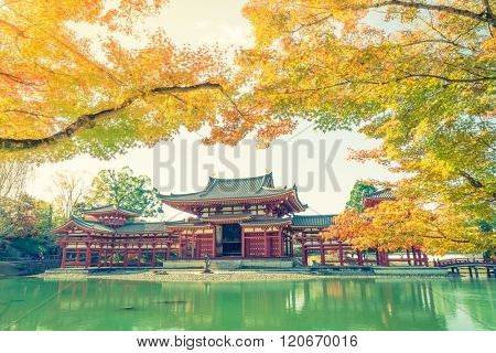 Byodo-in Temple Kyoto, Japan ( Filtered image processed vintage effect. )