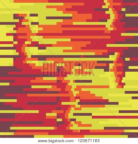 Abstract background vector pattern in glitch style design.