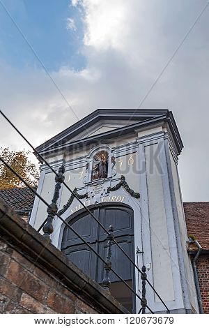 Famous Door Entrance In Bruges, Belgium