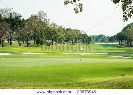 Landscape View Of Golf Course
