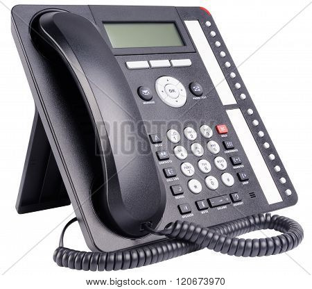 Office Telephone Set Isolated