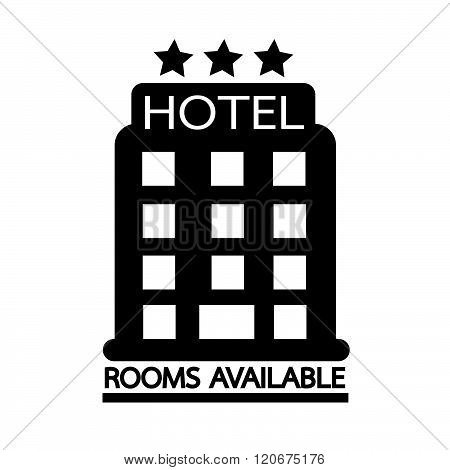 an images of Hotel Rooms Available icon Illustration design