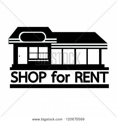an images of shop for rent icon Illustration design
