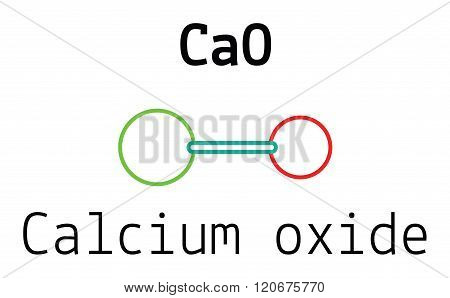 CaO calcium oxide molecule