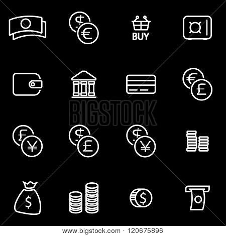 Vector Line Money Icon Set